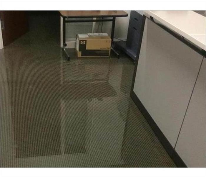 Dallas Office Gets Wet from a Water Leak Before