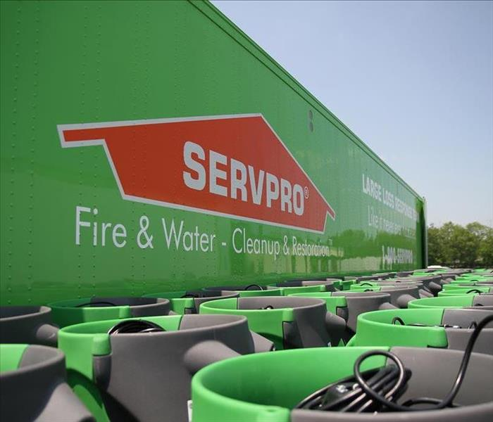 Servpro equipment and logo
