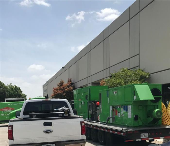 SERVPRO equipment outside of building